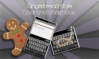 Screenshot of SlideIT Gingerbread Skin