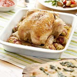 Roast Chicken With Pancetta & Ricotta Stuffing Balls