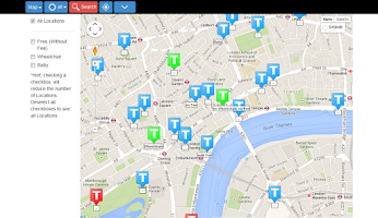 Screenshot of Toilet Finder