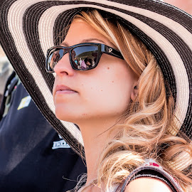 young woman in hat by Vibeke Friis - People Fashion ( woman, sunglasses, hat,  )