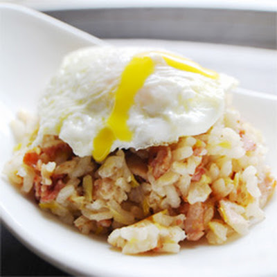 Bacon & Eggs Risotto