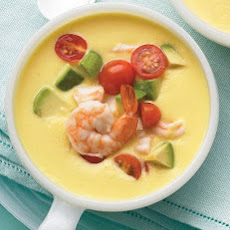 Cold Southwestern Corn and Shrimp Soup