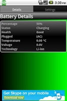 Screenshot of Battery Details