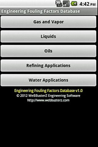 Fouling Factors Database
