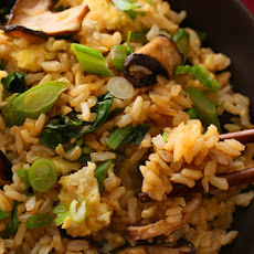Gai Lan and Shiitake Stir-Fried Brown Rice Recipe