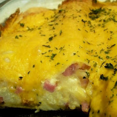 Brunch Ham Enchilada Casserole (Make Ahead)