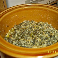 Crock Pot Cheesy Spinach