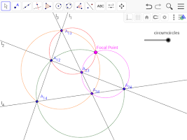 Screenshot of GeoGebra