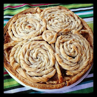 Hazelnut Praline Dutch Apple Pie with Hand-Twirled Crust