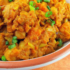 Curried Sweet Potatoes and Chickpeas