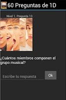 Screenshot of 60 Preguntas de 1D