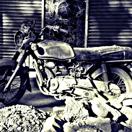 ADAPT by Nitin Upadhyaya - Novices Only Street & Candid ( old, bike, street, ruins, past )