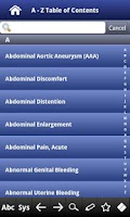 Screenshot of Differential Diagnosis pocket