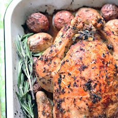 Lemon Rosemary Roasted Chicken and Potatoes