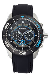 Breil 'Edge' Chronograph Silicone Strap Watch, 47mm