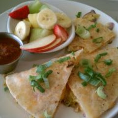 Breakfast Quesadilla on House Made Gluten Free Tortilla