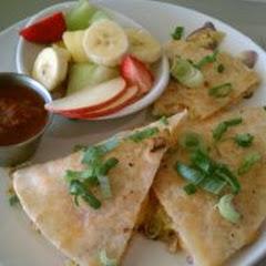 Breakfast Quesadilla on House Made Gluten Free Tortilla