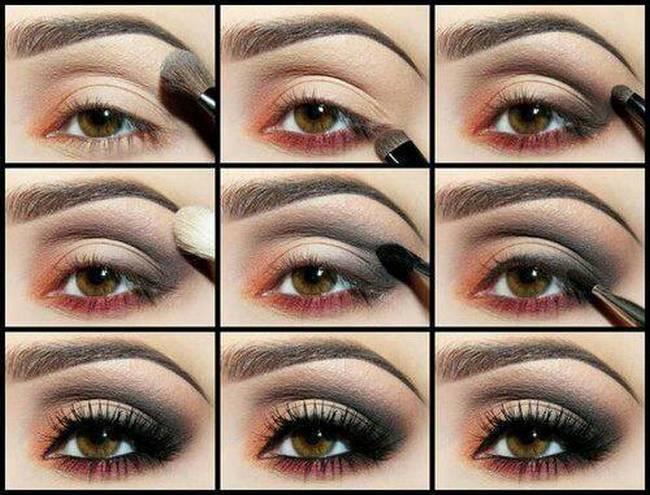 Как накрасить глаза в домашних условиях фото пошагово