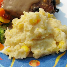Mashed Potatoes With Corn & Cheese
