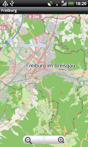 Freiburg Street Map