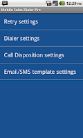 Screenshot of MobilCTI Auto Power Dialer