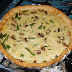 Farmhouse Hearty Mushroom, Asparagus and Bacon Quiche