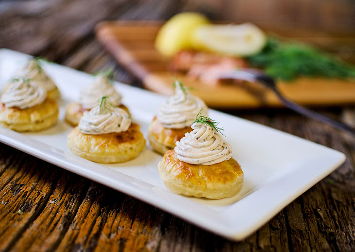 Smoke Salmon & Goat Cheese Puffs Recipe | Yummly