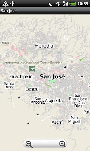 San Jose Costa Rica Street Map