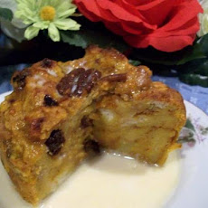 Pumpkin Bread Pudding With Vanilla Butter Sauce