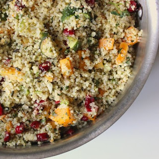Zucchini, Squash, and Mint Quinoa Stuffing