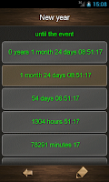 Screenshot of Countdown calendar.
