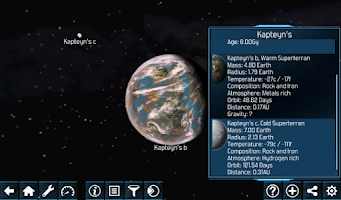 Screenshot of Exo Planets Explorer 3D