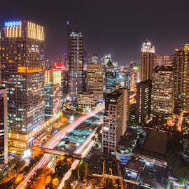 Jakarta @night by Maria Adriani - City,  Street & Park  Night ( Urban, City, Lifestyle )