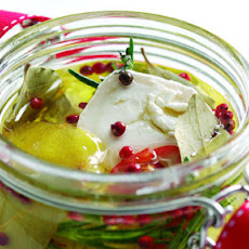 Marinated French goat's cheese