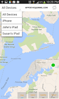 Screenshot of Find My iPhone, My Android xFi