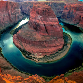 Horseshoe Bend Sunset by David Long - Instagram & Mobile iPhone ( colorado river, page, horseshoe bend )