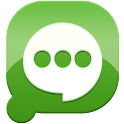 Easy SMS solid Green theme icon