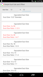 Simple Duct Calculator Deluxe- screenshot thumbnail