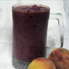Purple Power Blackberry Peach Smoothie