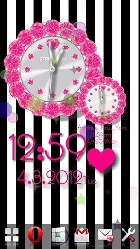玩免費個人化APP|下載オトメ時計(ピンク)♥ギャラリープラグイン app不用錢|硬是要APP