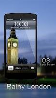 Screenshot of Rainy London Lock Screen