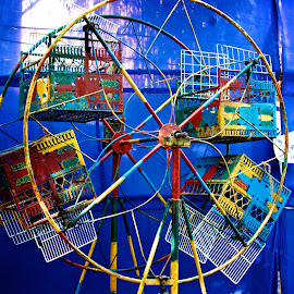 Chennai Childrens Wheel by Chris Bannocks - City,  Street & Park  Amusement Parks ( colour, wheel, chennai )