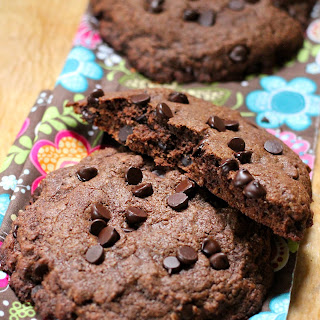 Extra Large Double Chocolate And Coconut Cookies