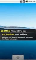 Screenshot of German English Translator app