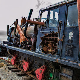 train, steampunk, rail, unusual by Vibeke Friis - Transportation Trains