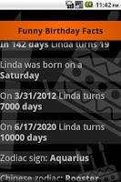 Screenshot of Funny Birthday Facts