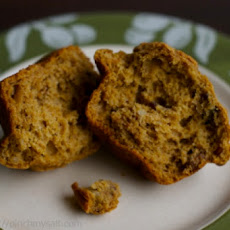 Whole Wheat Pumpkin Muffins with Cranberries and Walnuts