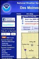 Screenshot of Iowa Weather