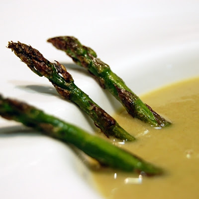 Wild Asparagus and Shrimp Cream