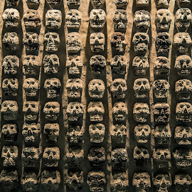 Skulls in Tenochtitlan, Mexico by Christian Diboky - Abstract Patterns ( aztecs, skulls, pattern, mexico df, mexico, tenochtitlan,  )